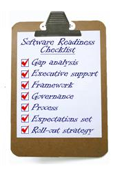Software readiness checklist